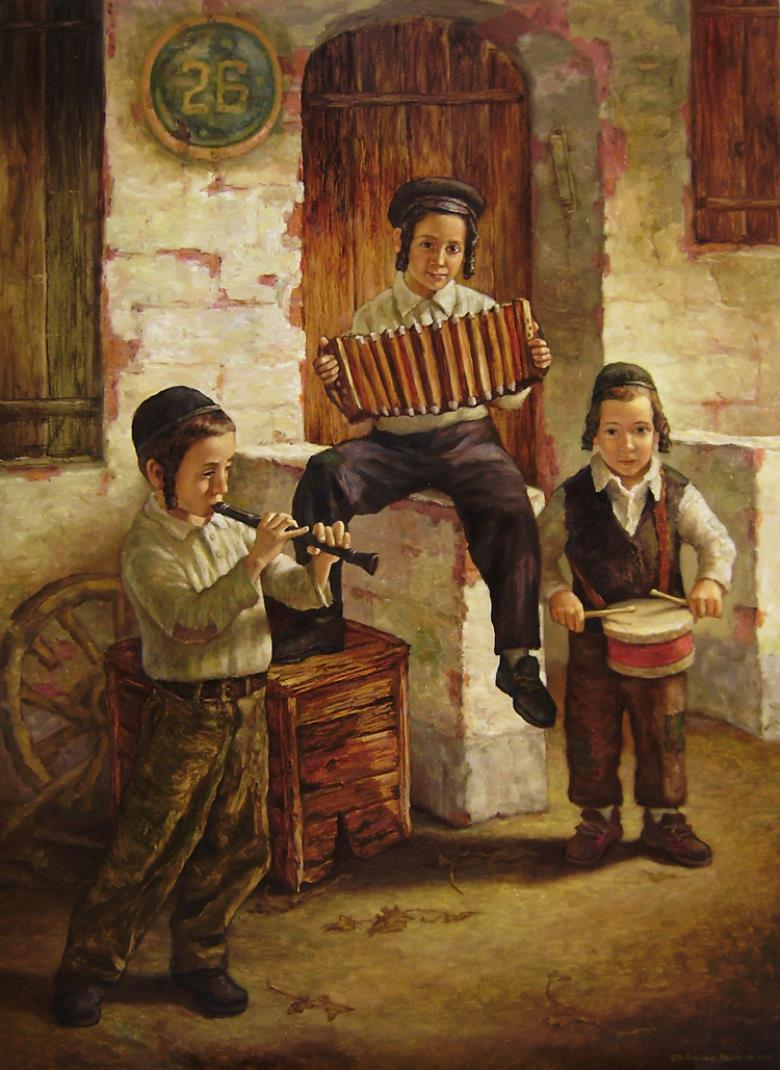 Boris dubrov judaica surrealism painter paints for Israeli artists oil paintings